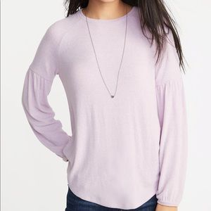 Old Navy Luxe Balloon-Sleeve Lilac Pink Purple XS